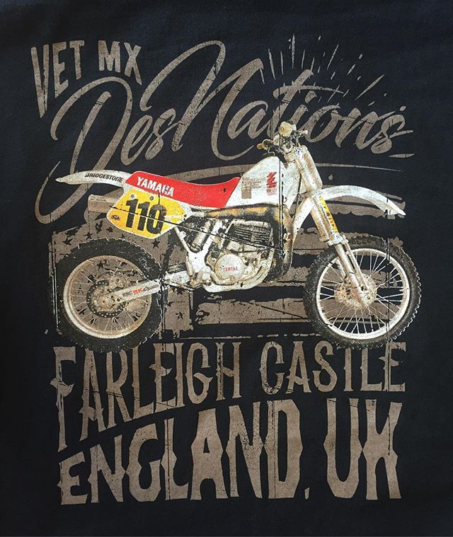 RAD! Vintage moto tees! For Dave Coupe headed over seas ! _ Artist: @_jl357  __ #graphicdesign #customtees #artistsofig #screenprinting #screenprintingdonesac #brand #brandyourself #custombrand #sportsteams #event #motocross #mx #sx #ax #yamaha #apparel #art #clothingbrand #calligraphy #typography #motocross #snapback #tank #tee #hat #customapparel #crossfit #gym #handrawnart