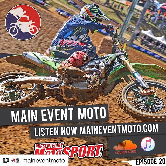 #Repost @maineventmoto with @repostapp ・・・ The @maineventmoto podcast, powered by Motosport.com, is out on iTunes, Stitcher, Soundcloud, and the rest. In Episode 20 (Drop the Mic), we break down Budds Creek and SO MUCH MORE. 📷: @mikevizerphoto 🎨: @_jl357 #MainEventMoto @motosportinc @mikametals @no_toil @screenprintingdone @haesekerracing #motocross #mx #supercross #sx #arenacross #ax #dirtbikes #motocrosslife #yamaha #suzuki #honda #ktm #kawasaki #supercrosslive #axonfox #sxonfox #amsoilarenacross #monsterenergy #amasupercross