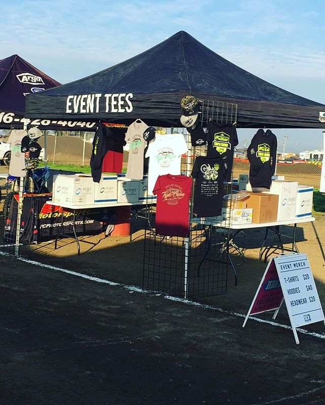 We will be out at the @motopro_graphics / @clubmoto_argyllmx triple crown selling event merch all weekend come by and pick up your swag! #motopro #triplecrown #dirtbikes #tees #hoodies #hats