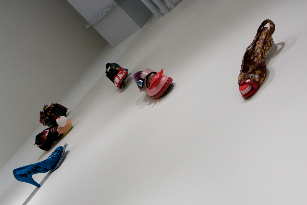 Original shoe sculptures by Jennifer Merdjan