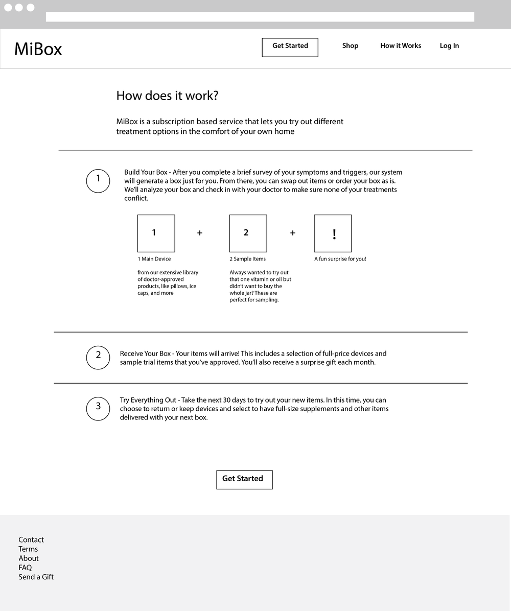 """how it works"" page introducing users to the service"