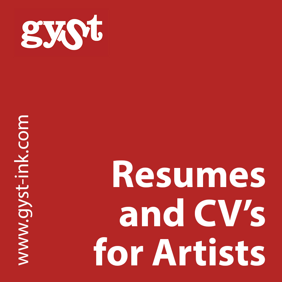resumes and cv's for artists