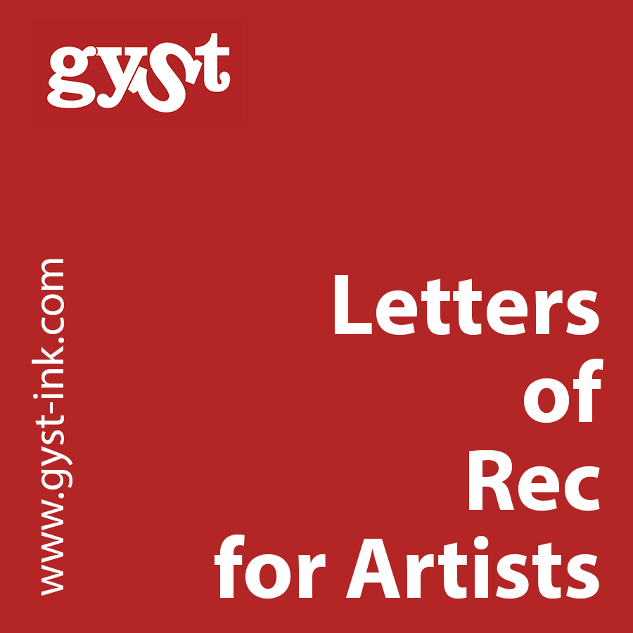 letters of recommendation for artists