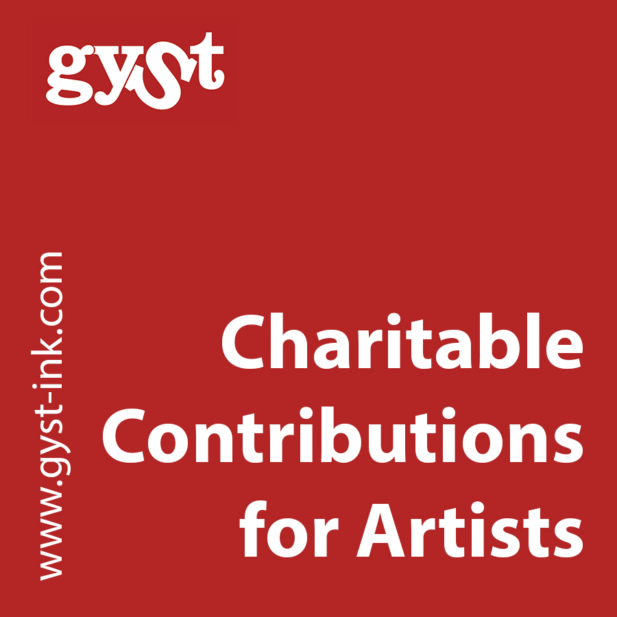 charitable contributions for artists