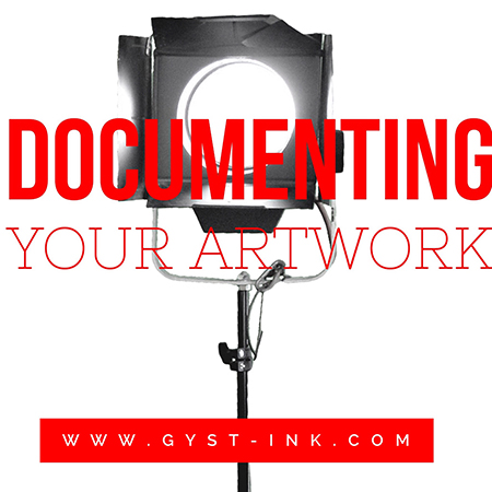 An article on documenting your artwork at http://www.gyst-ink.com/documentation/