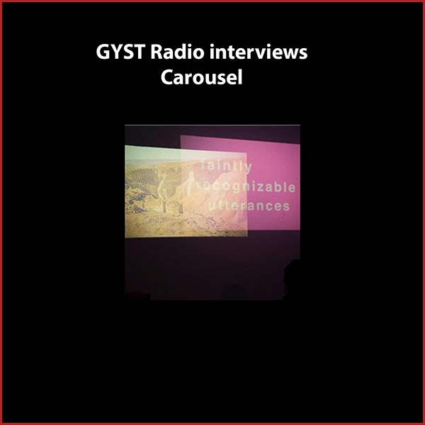 "GYST DO IT! With Carousel - Artists/collaborators Gabriela Salazar and Mary Choueiter will discuss their on-going curatorial project CAROUSEL.CAROUSEL is an exhibition experiment. It is a venue on a turntable. It is a nomad. It is an anachronism. Surpassing its time and usefulness, CAROUSEL is cheap, familiar, a little stubborn, and begging reinterpretation.Regular one-night-only ""openings"" showcase an artist and their use of a mechanical slide projector.Hosted by  Kara Tomé."