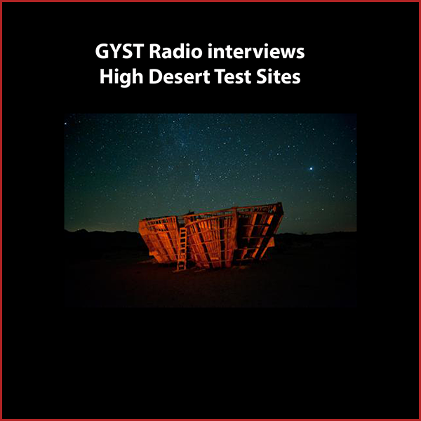 GYST DO IT! With High Desert Test Sites - Aurora Tang from High Desert Test Sites, discusses the history of the organization and the recent receipt of non-profit status after a decade of programming.High Desert Test Sites (HDTS) supports experimental art that engages with the local environment and community. Scattered along a stretch of desert communities in and around Joshua Tree, California, HDTS provides a place for both fleeting and long-term experimental outdoor projects that challenge traditional conventions of ownership, property, and patronage. Most projects will ultimately belong to no one and are intended to melt back into the landscape as new ones emerge.High Desert Test Sites engages in year-round programming and events including a semi-annual weekend event that invites artists to install or perform temporary projects around the area.Sixty artists will participate in the HDTS 2013 event that will occur in Joshua Tree and travel a total 700 miles with artists projects installed all the way to Albuqurque, NM.www.highdeserttestsites.comHosted by Kara Tomé