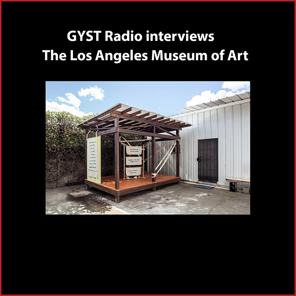 GYST DO IT! With The Los Angeles Museum of Art - Alice Konitz talks about her art project, the Los Angeles Museum of Art, located just outside her studio in Echo Park. As an extension of her sculptural practice, she built the 13 foot long structure to house site-specific installations by fellow artists.Hosted by Kara Tomé