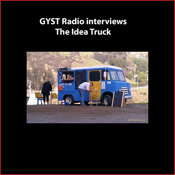 GYST DO IT! With The Idea Truck - Artist Lorri Deyer talks about her project The Idea Truck, a restored and customized taco truck that she drives around the city of Los Angeles, and the only thing on the menu is IDEAS.  The truck is parked in a public place and passers-by are asked to give her an idea of theirs, in exchange for another.Lorri's work challenges viewers to examine the unconsidered aspects of their immediate surroundings. She has been working in the public realm, and exhibiting her work, since receiving her MFA in 2009 from California State University. www.ideatruck.uswww.lorrideyer.comHosted by Kara Tome