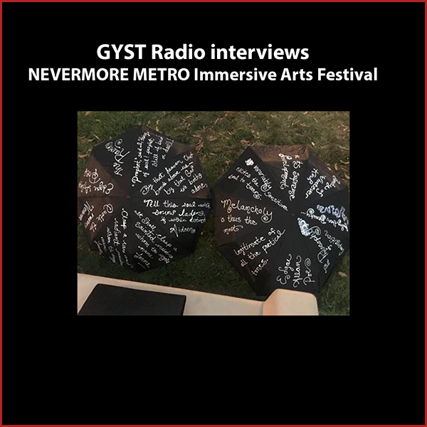 GYST DO IT! With Nevermore Metro Immersive Arts Festival - Our guest is Brian Sonia-Wallace, the artistic director and co-producer of the NEVERMORE METRO Immersive Arts Festival, an all-day event on Oct 29, 2016 exploring the East San Fernando Valley along METRO's Orange Line. Through the Festival, registered audience members travel on METRO, either as a guided tour or a choose-your-own-adventure, to literary performance spaces throughout the day. 30 of LA's best diverse voices, including Los Angeles Poet Laureate Luis J. Rodriguez, will participate.In the world of NEVERMORE, special sites off the Orange Line are transformed by poets and the escaped works of Edgar Allan Poe, which have mingled with local legends and Mexican folklore. It is up to the audience to lay these poems to rest and release Poe's spirit.NEVERMORE is a project of Theatre Magnet, a subsidiary of Artist Magnet, and RENT Poet, in partnership with the Eclectic Company Theatre. Hosted by Kara Tomé