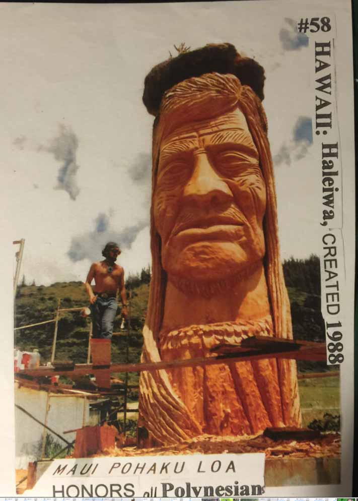 Here's the Hawaiian statue the artist talks about in the episode.