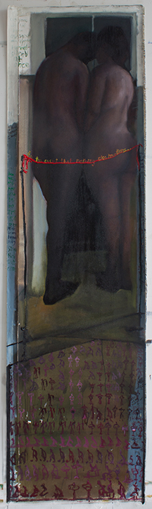 COMMENTARIES 4 H100 X W30 Inches, Oil on canvas 2013 web.jpg