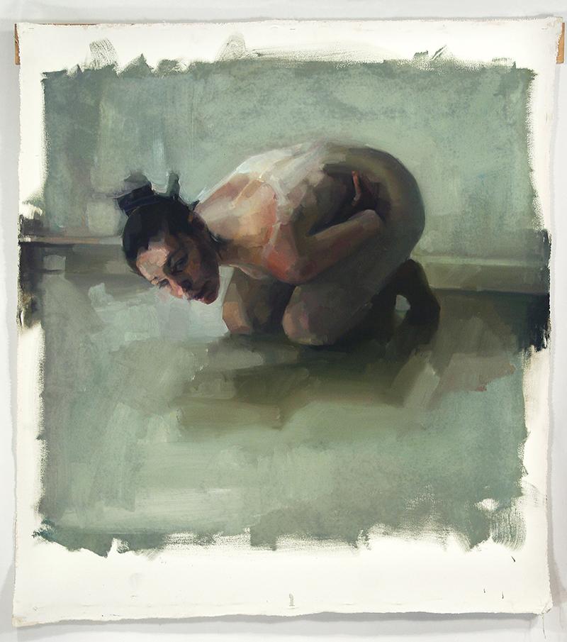 6 Beside, dancer. Oil on canvas H48xW35%22 2010.jpg