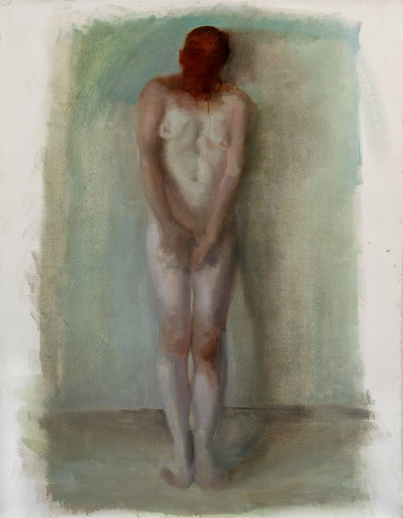 8 Beside, touched. Oil on canvas H60%22xW48%22 2010.jpg