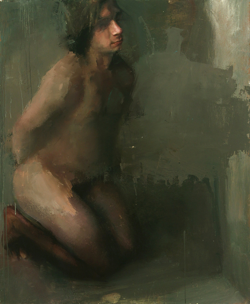 "Every Body Knows, blindfold 2, Oil on canvas, H42""xW35"", 2007"