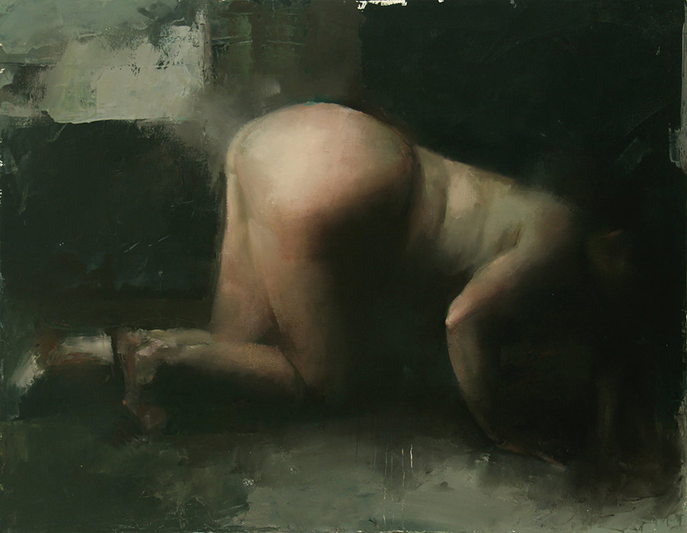 "Every Body Knows, vomiter 1, Oil on canvas, H42""xW54"", 2009"