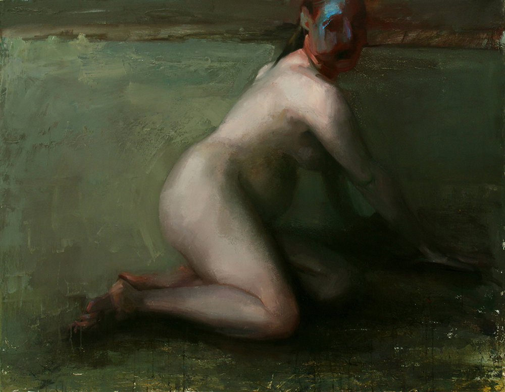 "Every Body Knows, vomiter 4, Oil on canvas, H42""xW54"", 2009"