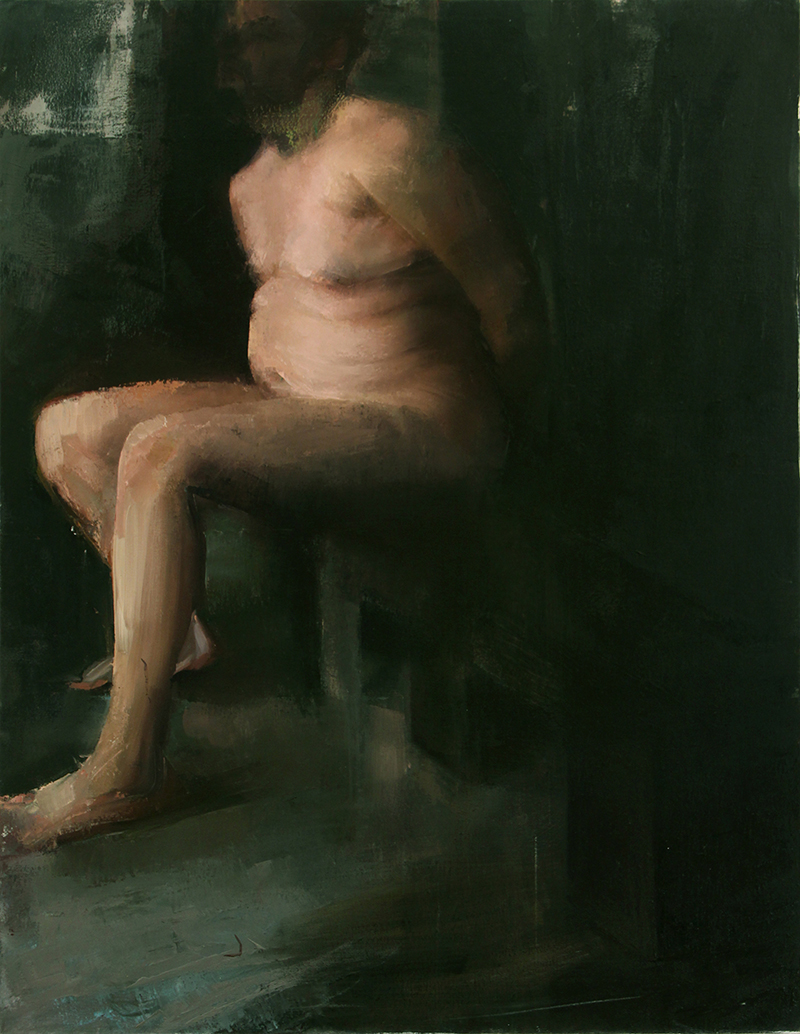 "Every Body Knows, waiter 1, Oil on canvas, H54""xW42"", 2008"