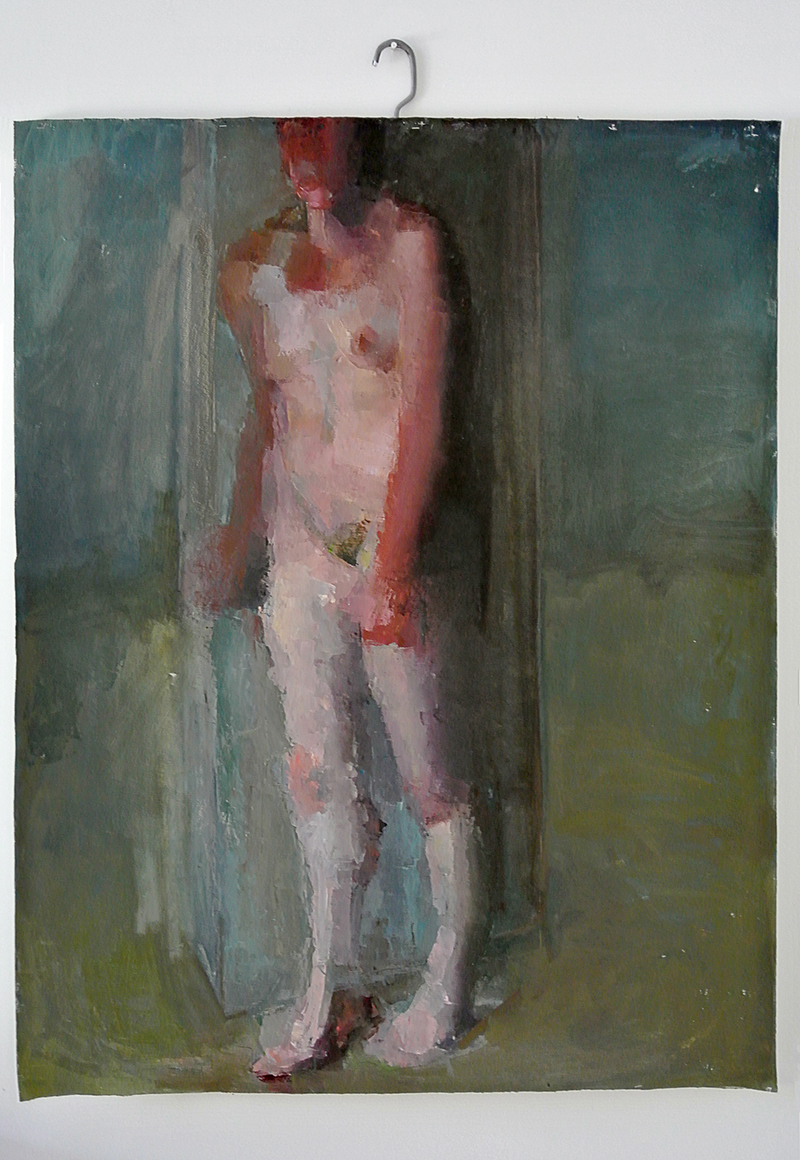 "BESIDE, midday Oil on canvas, H60""xW48"", 2011"