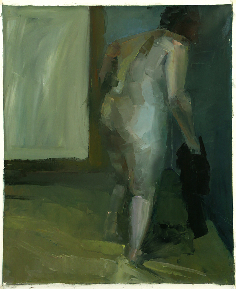 "BESIDE, seen again, Oil on canvas, H42""xW35"", 2009"