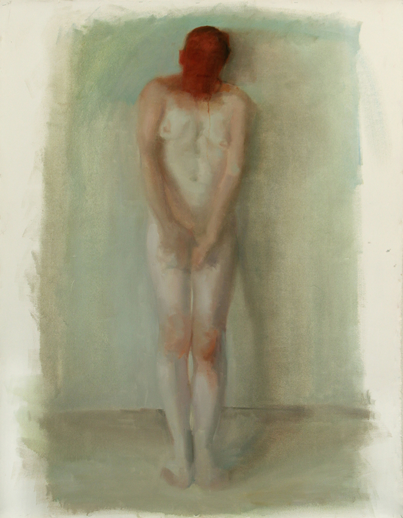 "BESIDE, touched, Oil on canvas H60""xW48"", 2009"