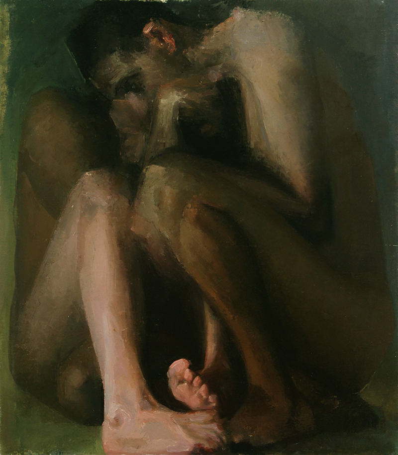 "In Difference, Aisen and Nick 2, Oil on Canvas, H32""xW48"", 2009 sold"