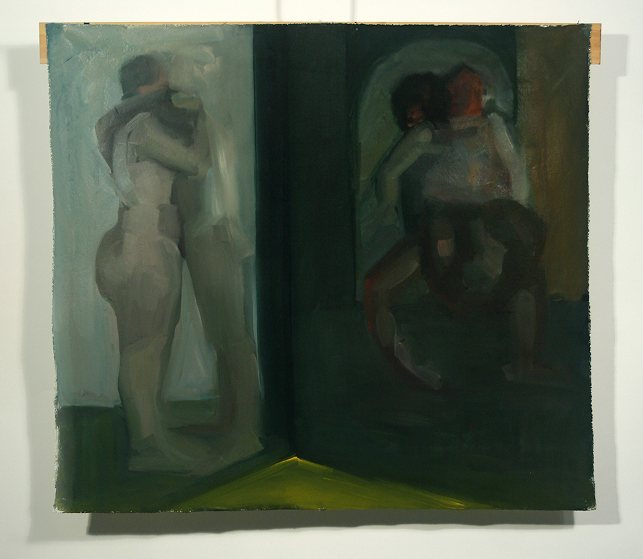 "In Difference with Cross, Oil on canvas, H38""xW48"", 2010"