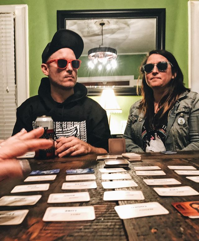 Codenames with the cheater sunglasses mod.