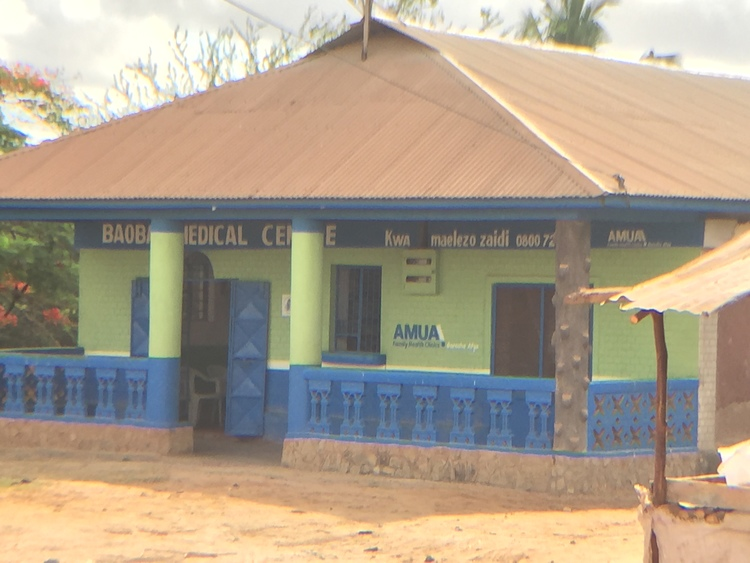 Throughout Kenya these brightly colored buildings are set up by a major UK-based organization that provides counseling to young people about so-called 'safe sex' and information about how to obtain an abortion.