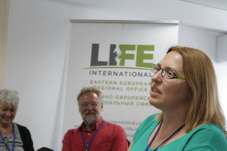 Larysa Ploskonis, Director of LIFE International Eastern European Regional Office