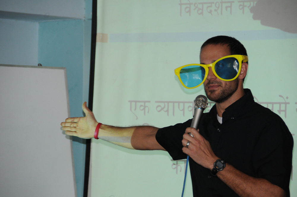 Pastor Ryan Waalkes teaching on worldview in India. What is the shade of your lenses?