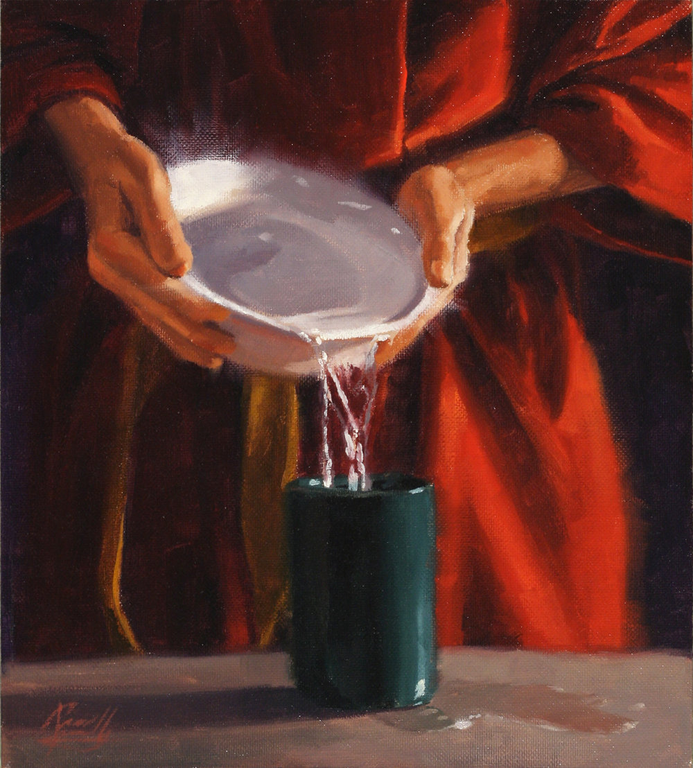 Once the cup has been made clean, the Master can fill it with something good to drink. He empowers us and gives us all that we need to complete the work that He has set before us.