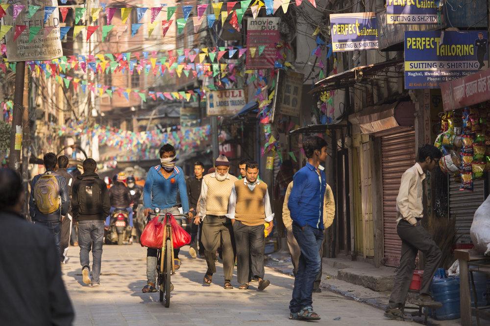 Kathmandu's colorful, vibrant streets.