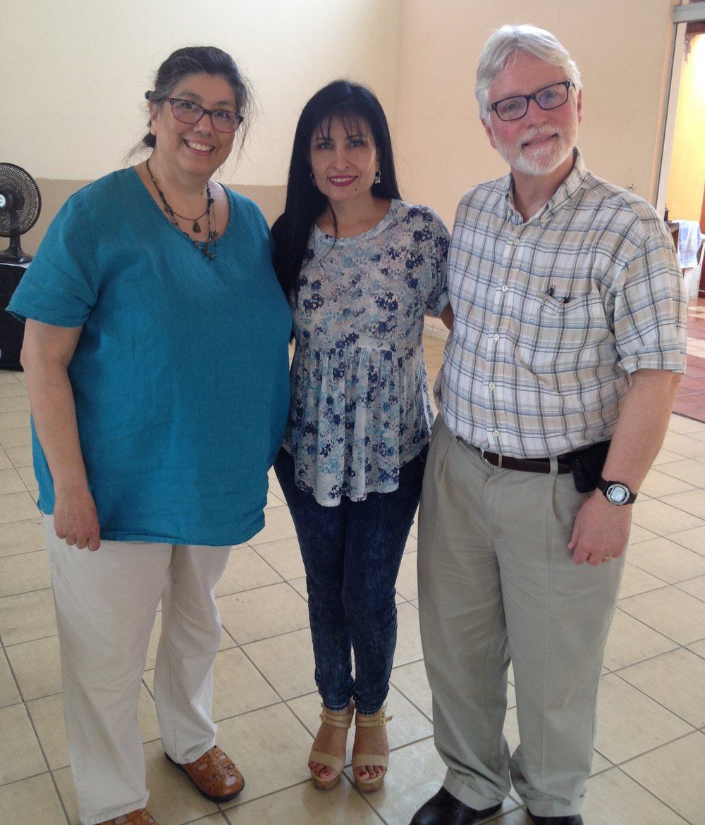 Bill and Nancy with fellow volunteer ITS and ministry partner Carmen (center) in Bolivia, 2015