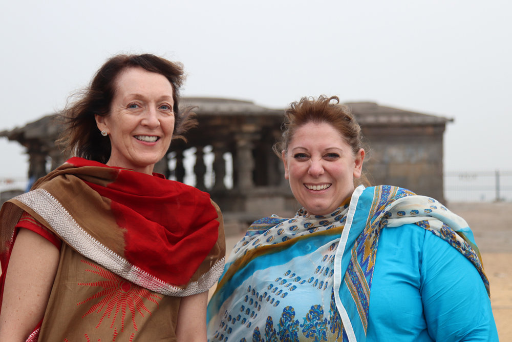 Kirsten (left) with LIFE International Events Manager, Sarah Blocher, in South Asia!