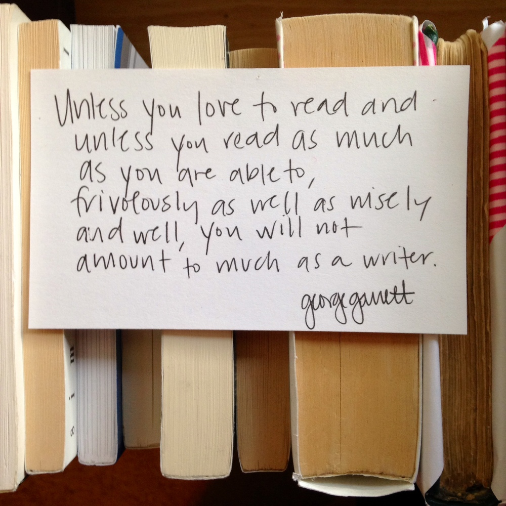 You've gotta love to read, and read like crazy. Like CRAZY. | lucyflint.com