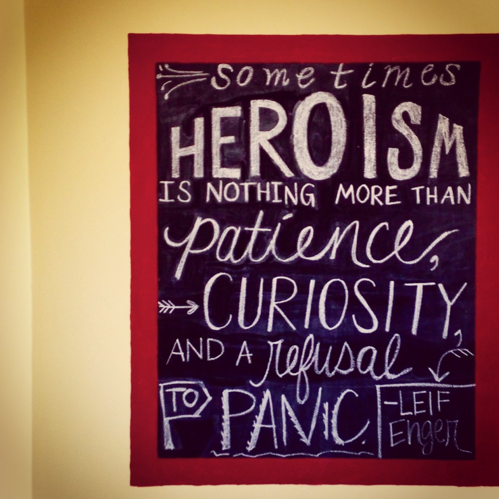 Leif Enger's ingredients for heroism: patience, curiosity, a refusal to panic. | lucyflint.com