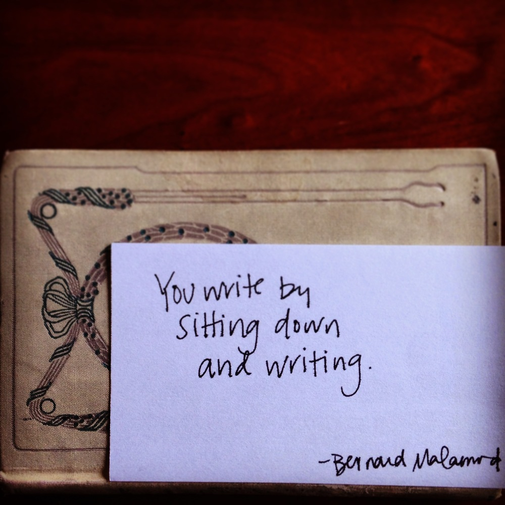 Sometimes, the whole secret to writing is just this: sitting down. | lucyflint.com