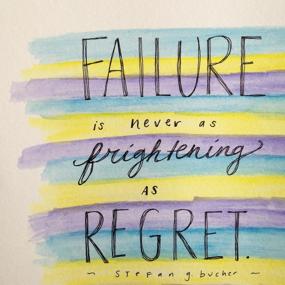 Failure is never as frightening as regret. So risk the failure; don't risk the regret. | lucyflint.com