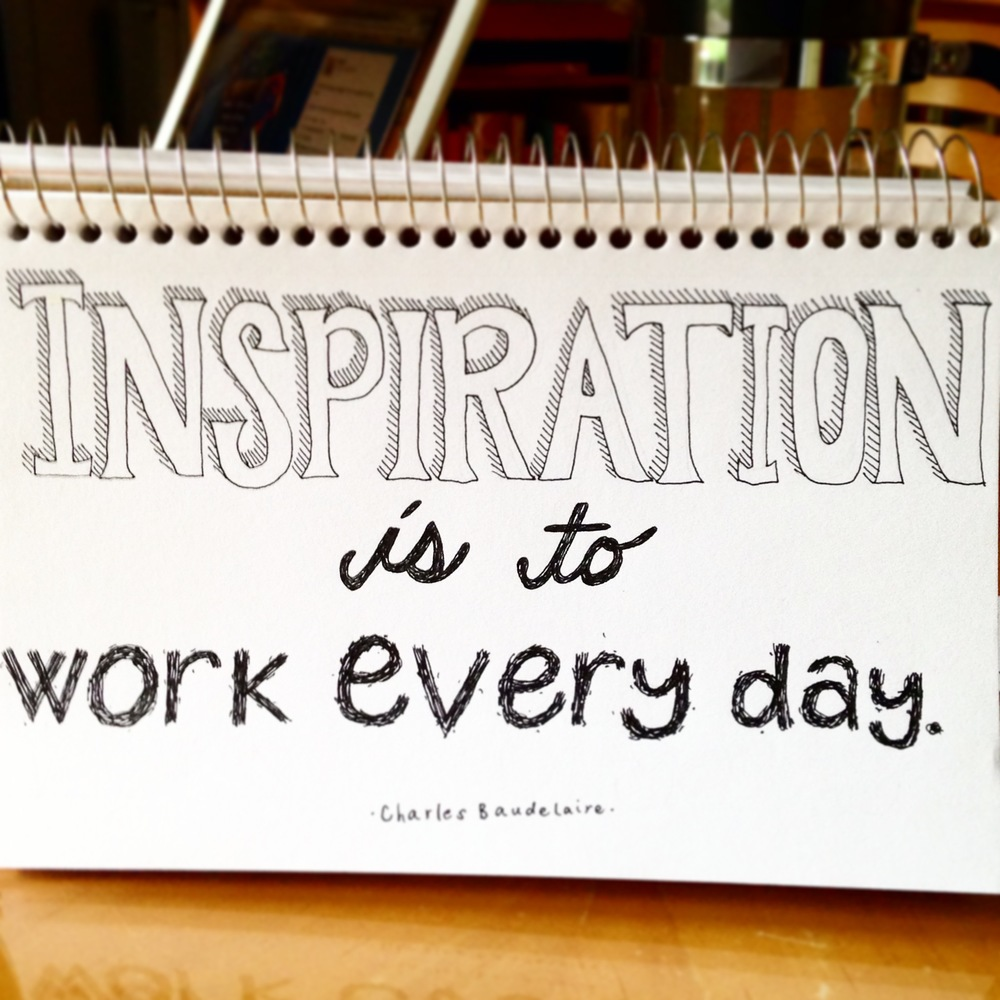 Working generates its own inspiration. | lucyflint.com