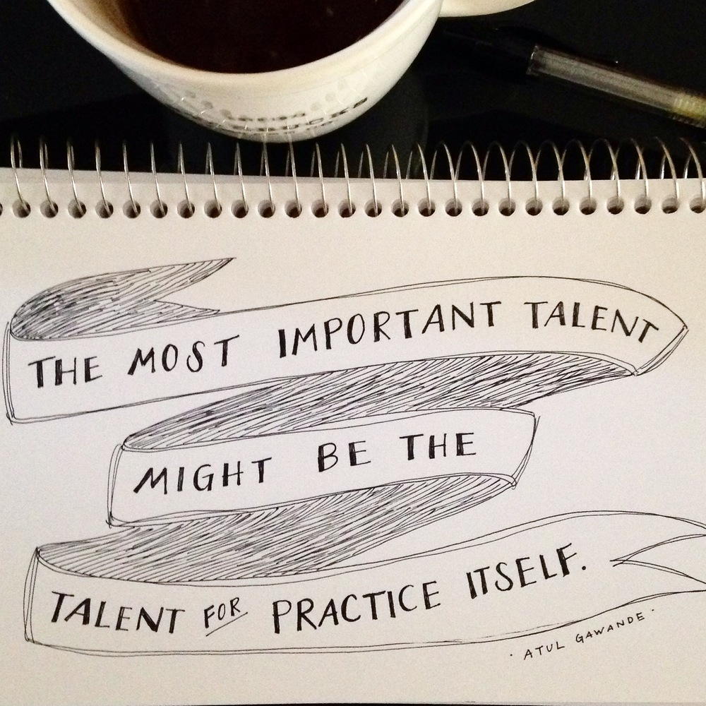Keep practicing. Keep showing up. Keep practicing. Writing is an endurance game. | lucyflint.com