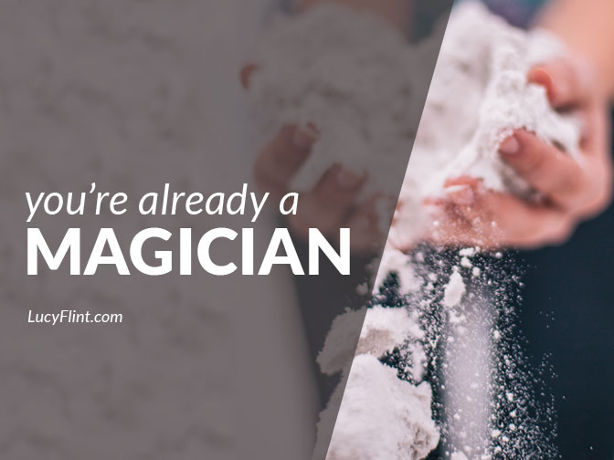 When you dive in and begin your creative work: spooky good things start to happen. | lucyflint.com