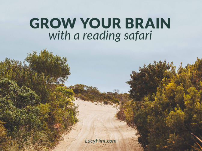 One of the most time-honored ways to stretch your brain: grab a book. | lucyflint.com