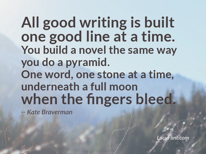 How all good writing is built. ... Quotes for the mysterious, shadowy side of writing on lucyflint.com