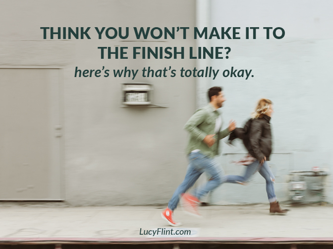 It's so easy to panic when you see all the work ahead of you. Fear has a TON of practice stopping us in our tracks. Here's the simple truth you need to know right this minute. | lucyflint.com