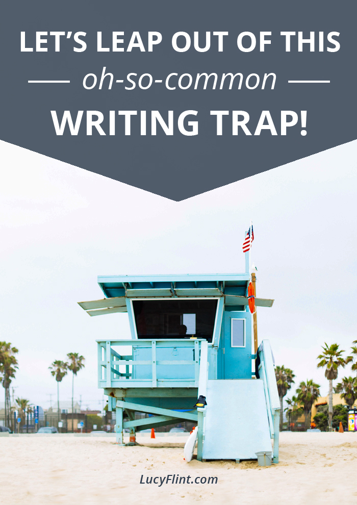 There's a fiendishly easy trap to fall into with our writing, especially if it's been chaotic, busy, or complicated in your life lately. Let's do a quick check-up, and leap back into a solid writing practice. You with me, lionheart? Let's go. | lucyflint.com