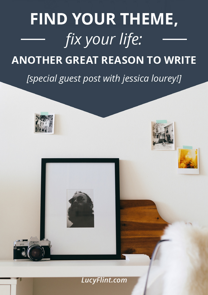 Find your theme, fix your life: Another great reason to write! (Special guest post with Jessica Lourey!) on Lucyflint.com