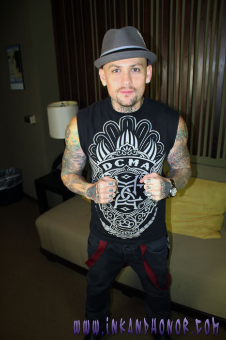 Check out Benji Madden's tattoos at www.inkandhonor.com