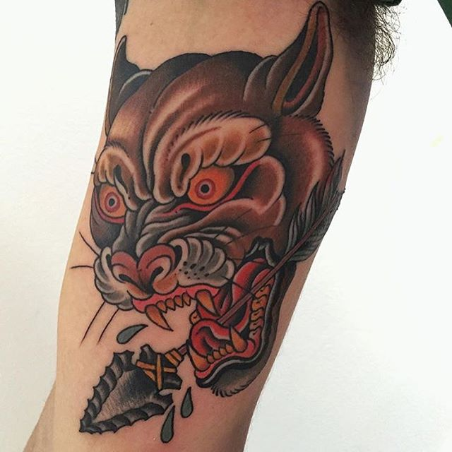 Check out this piece by Gordon Combs #tattoo #tattooer #gordoncombs #tattooartist #colortattoos