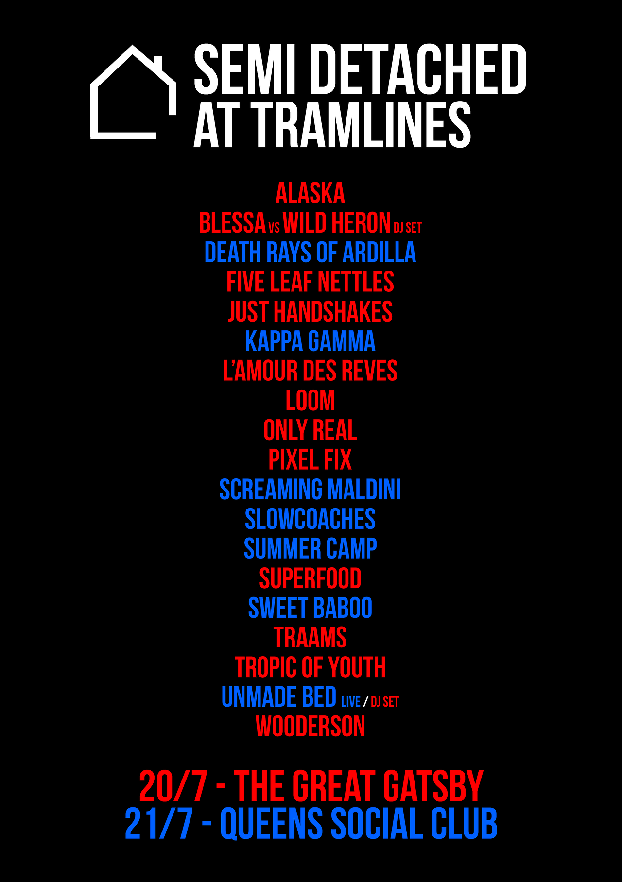 Tramlines is next weekend! We've a couple of secret special guests to announce for Saturday at the Great Gatsby, along with set times for both venues. Head here to keep informed.